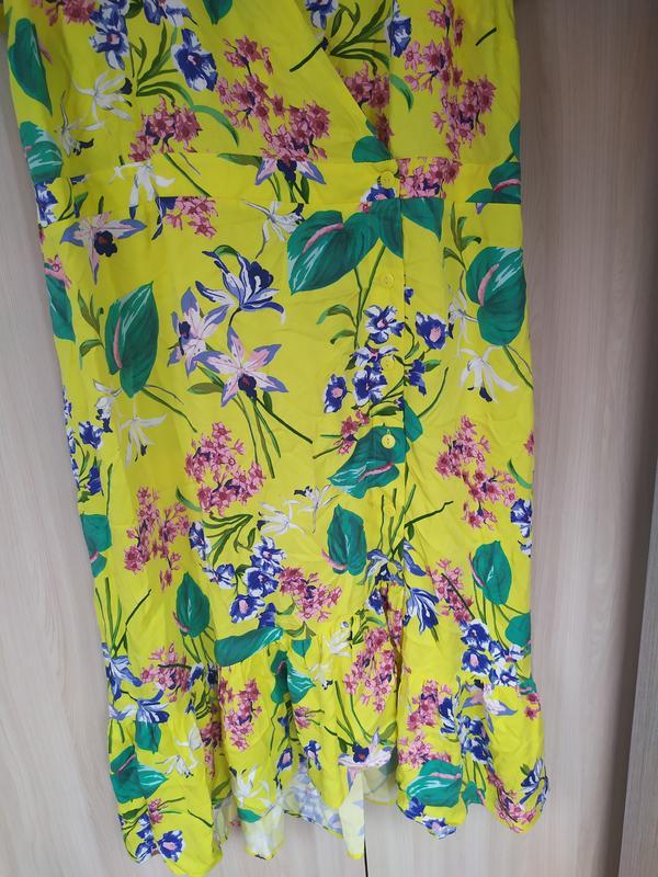 Яркое натуральное летнее платье - Фото 7
