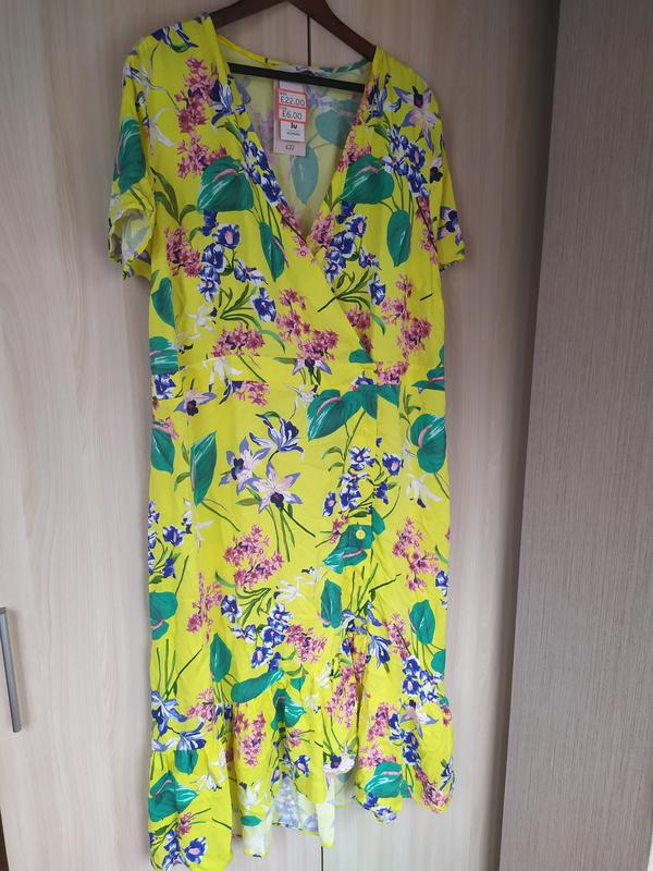 Яркое натуральное летнее платье - Фото 8
