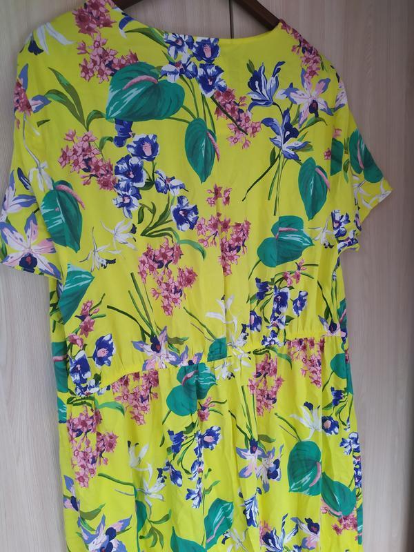 Яркое натуральное летнее платье - Фото 9