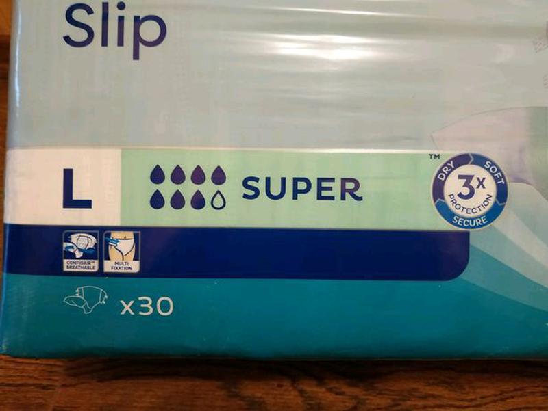 Подгузники для взрослых Tena Slip Super 3 Large, 30 шт. 7 КАПЕЛЬ - Фото 4
