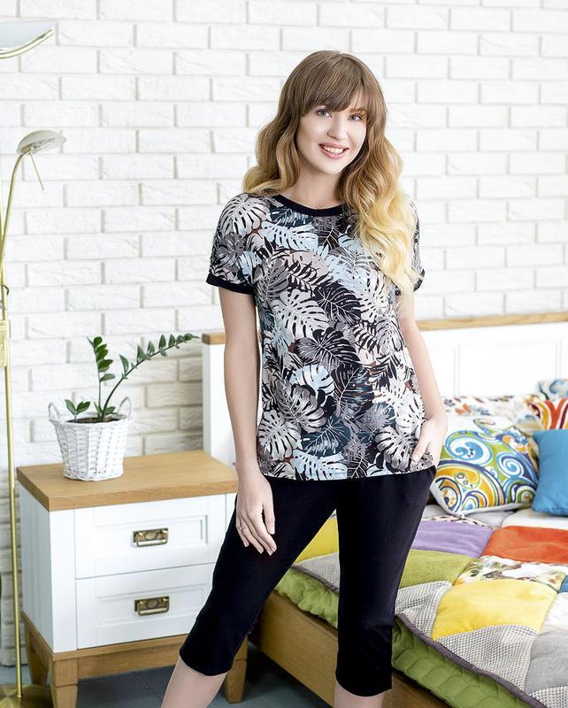 Летний легкий комплект одежды (футболка+бриджи) арт. 751