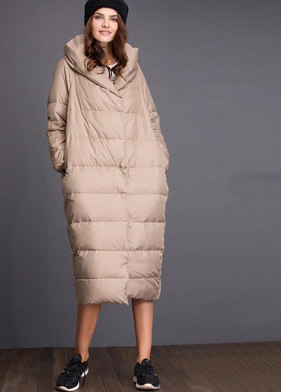 Шикарное женское пальто оверсайз oversize осень-зима кокон