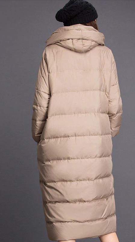 Шикарное женское пальто оверсайз oversize осень-зима кокон - Фото 2