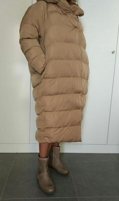 Шикарное женское пальто оверсайз oversize осень-зима кокон - Фото 5