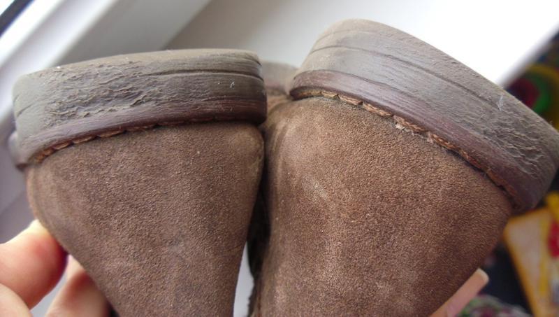 Коричневые замшевые деми сапожки tsm для девочки - Фото 5