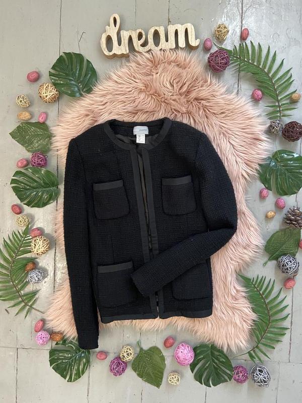 Твидовый пиджак жакет блейзер