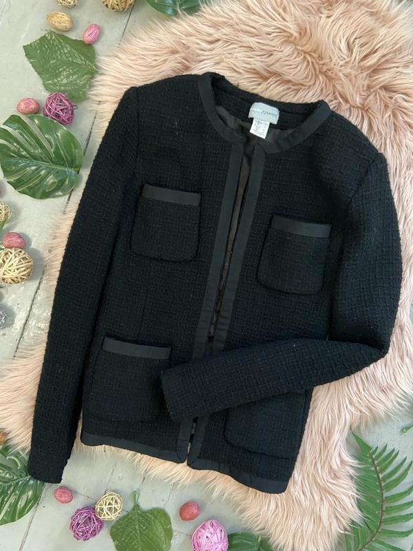 Твидовый пиджак жакет блейзер - Фото 2
