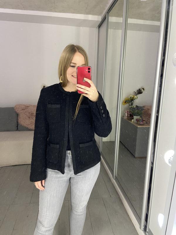 Твидовый пиджак жакет блейзер - Фото 4