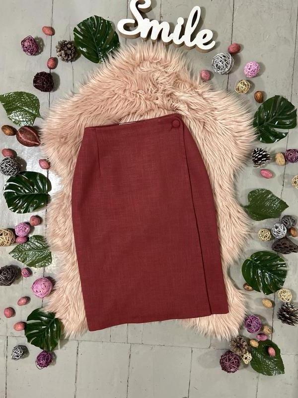 Актуальная винтажная юбка на запах №150