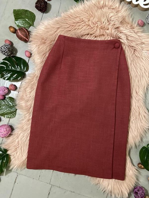 Актуальная винтажная юбка на запах №150 - Фото 2