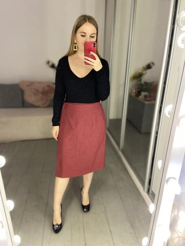 Актуальная винтажная юбка на запах №150 - Фото 6
