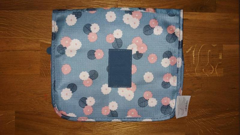 Подвесная дорожная сумка-органайзер для косметики в цветочек - Фото 2