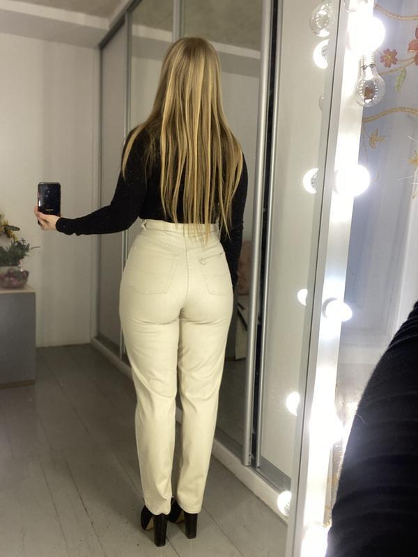 Актуальные винтажные прямые джинсы на высокой посадке №134 - Фото 9