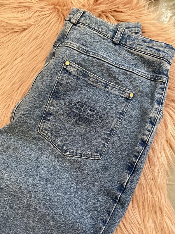 Актуальные винтажные прямые джинсы высокая посадка №135 - Фото 4