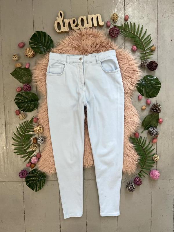 Актуальные винтажные прямые джинсы высокая посадка №136