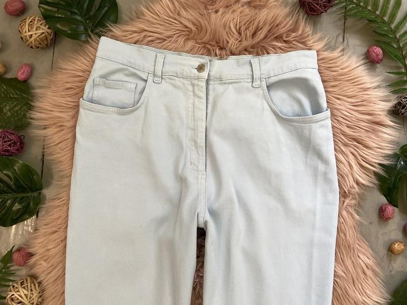 Актуальные винтажные прямые джинсы высокая посадка №136 - Фото 2