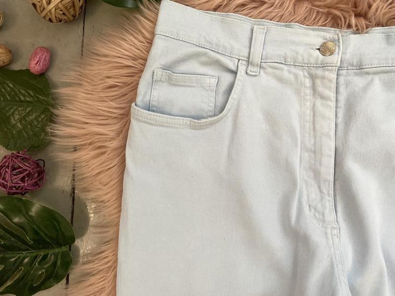 Актуальные винтажные прямые джинсы высокая посадка №136 - Фото 3