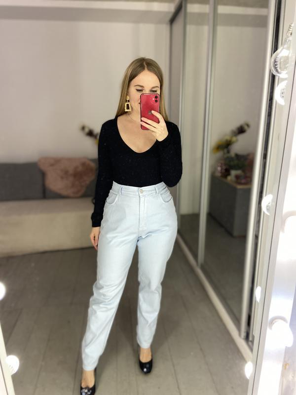 Актуальные винтажные прямые джинсы высокая посадка №136 - Фото 6