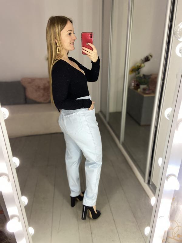 Актуальные винтажные прямые джинсы высокая посадка №136 - Фото 8