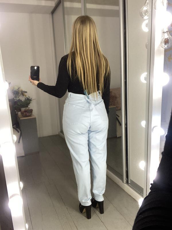 Актуальные винтажные прямые джинсы высокая посадка №136 - Фото 9