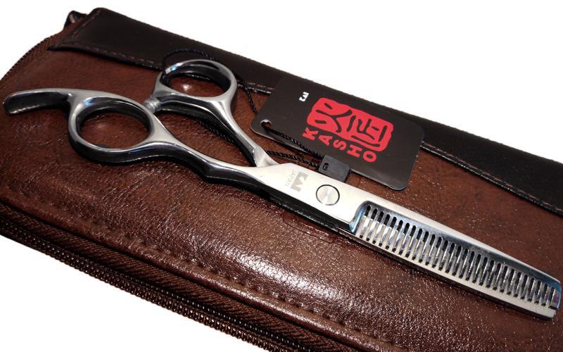 Профессиональные парикмахерские ножницы KASHO 6 дюймов - Фото 4