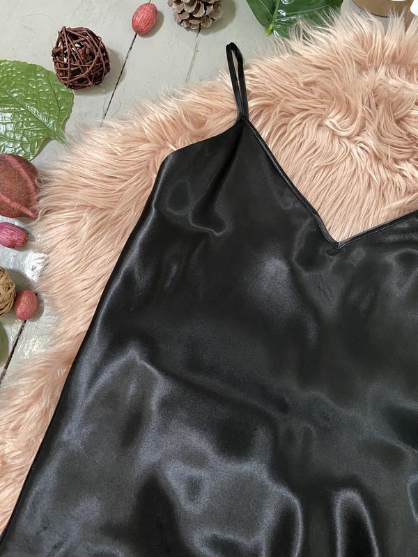 Нежная сатиновая пижама цветочный принт №71 - Фото 3