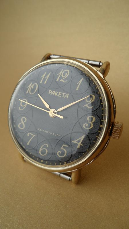 Часы «РАКЕТА» ЗОЛОЧЁННЫЕ, МЕХАНИЧЕСКИЕ сделано в СССР 80-х. мужск - Фото 4