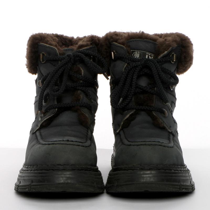 Кожаные зимние ботинки на мальчика р. 34, 20 см. чоботи - Фото 2