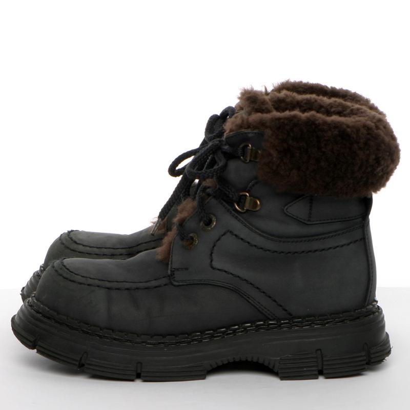 Кожаные зимние ботинки на мальчика р. 34, 20 см. чоботи - Фото 3