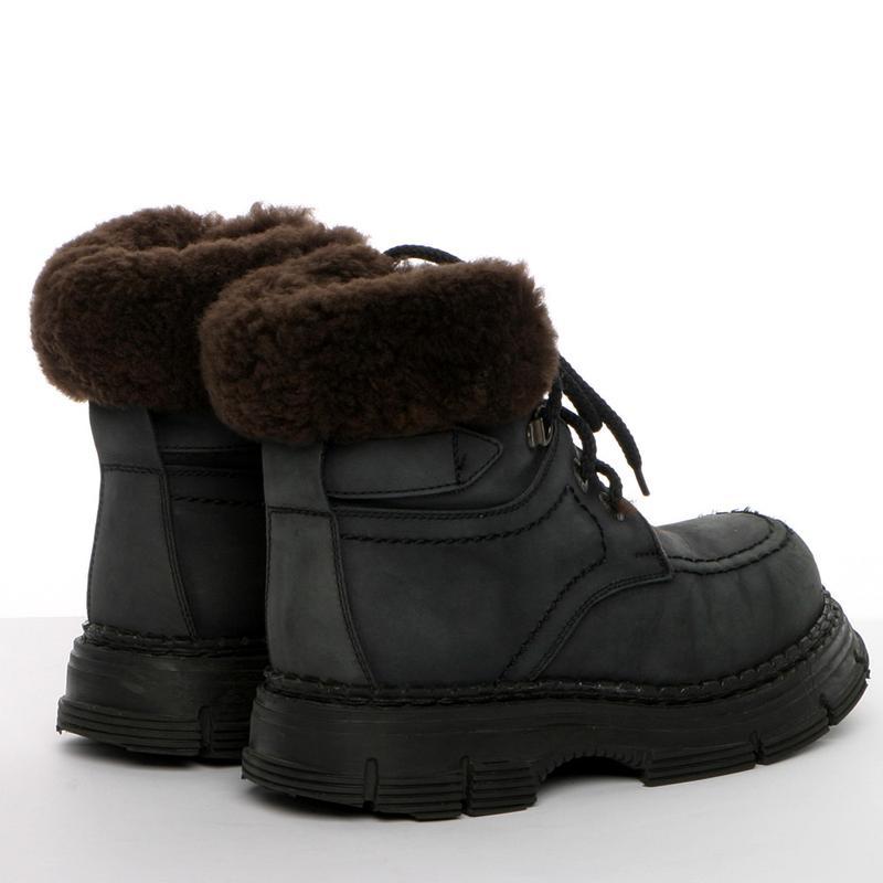 Кожаные зимние ботинки на мальчика р. 34, 20 см. чоботи - Фото 4