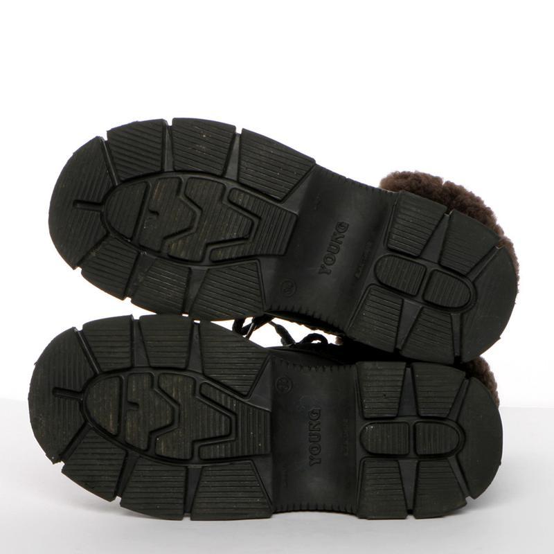 Кожаные зимние ботинки на мальчика р. 34, 20 см. чоботи - Фото 5