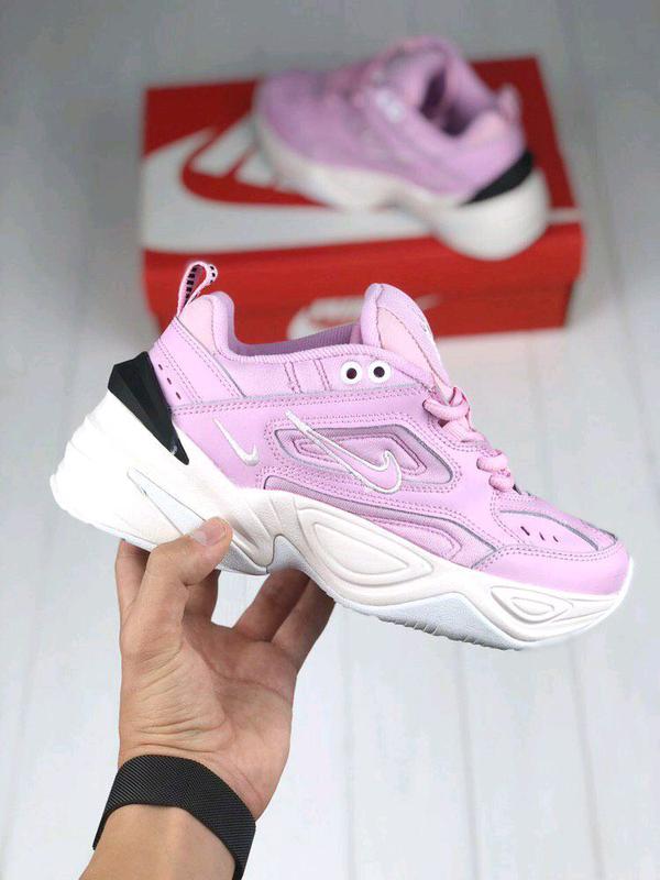 Женские Кроссовки Nike M2K Tekno pink&white ⬆️ - Фото 4