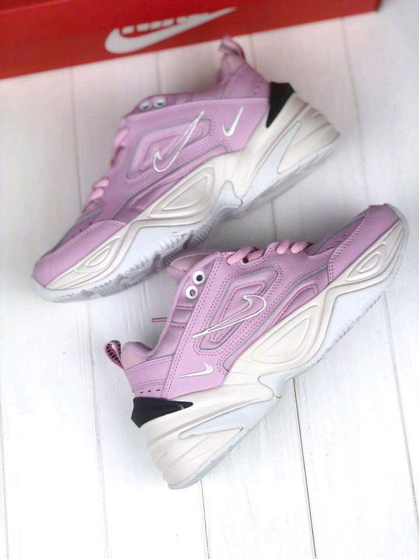 Женские Кроссовки Nike M2K Tekno pink&white ⬆️ - Фото 2