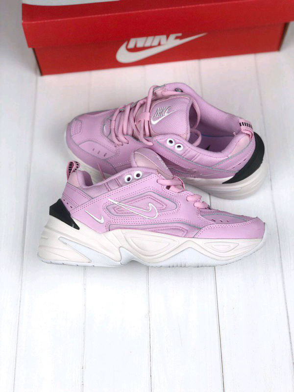 Женские Кроссовки Nike M2K Tekno pink&white ⬆️ - Фото 5