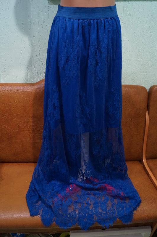 Летняя кружевная юбка р.s/m - Фото 3