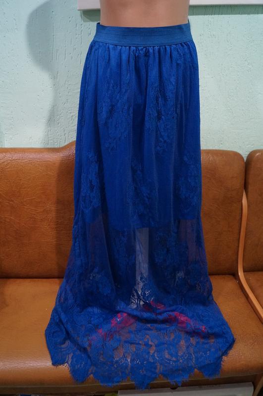 Летняя кружевная юбка р.s/m - Фото 5