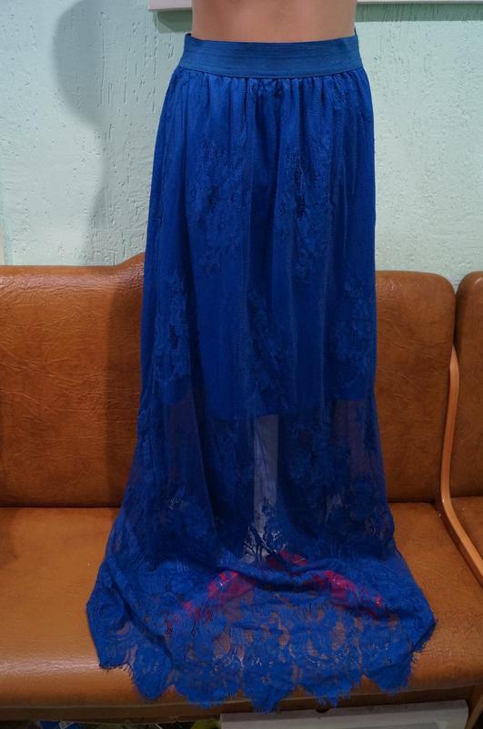 Летняя кружевная юбка р.s/m - Фото 6