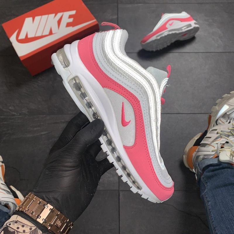 Nike air max 97 white red - Фото 2
