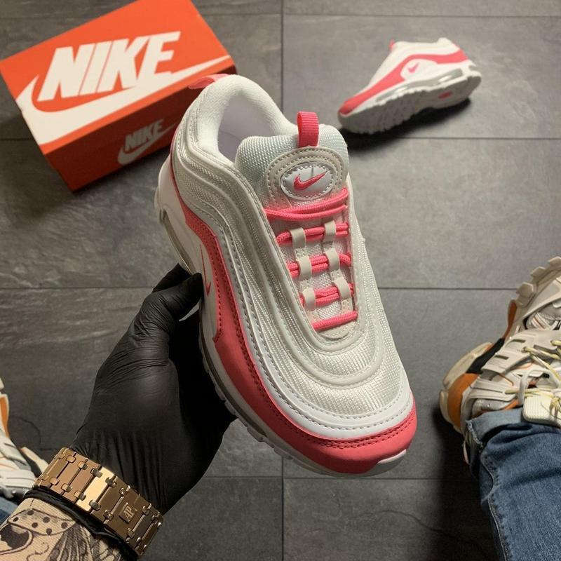 Nike air max 97 white red - Фото 5