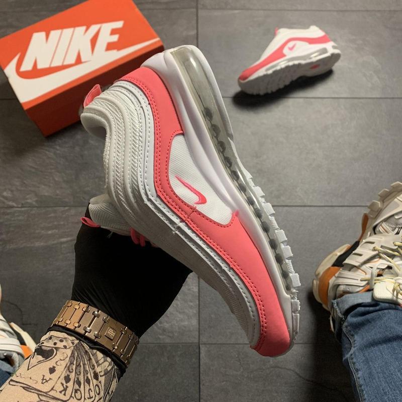 Nike air max 97 white red - Фото 9