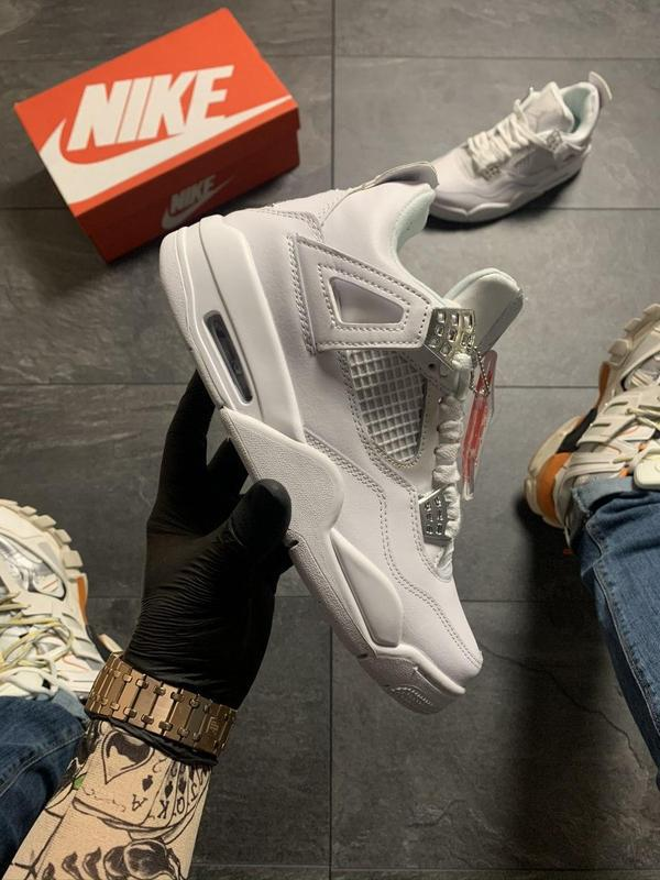 Nike air jordan 4 retro full white .