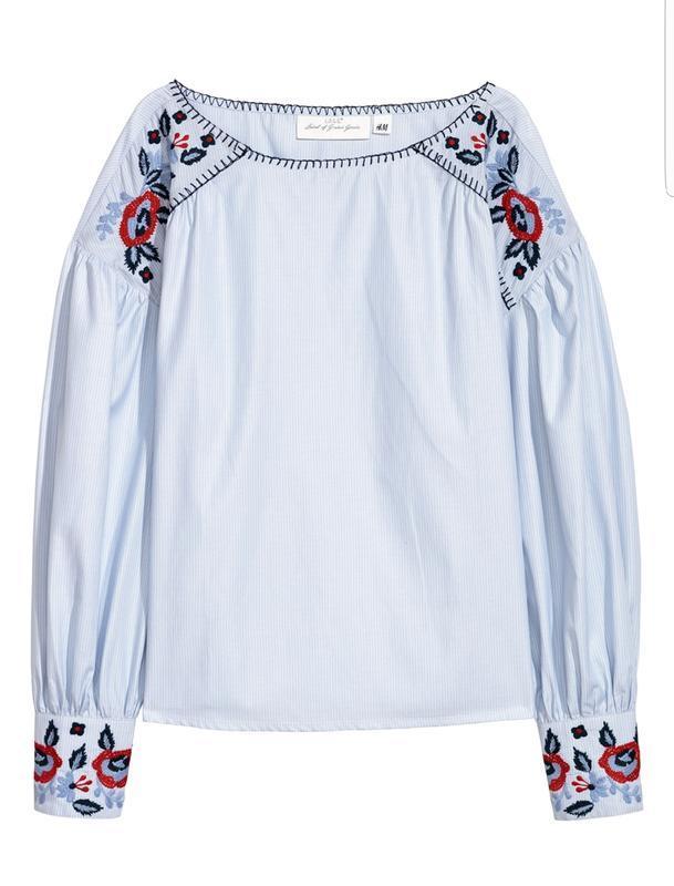 Красивая блуза h&m с вышивкой. вышиванка.