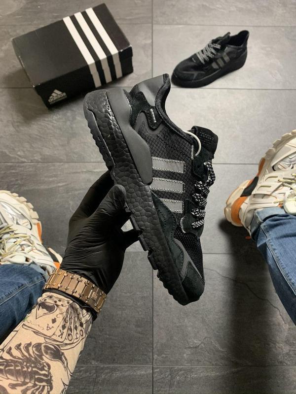 Adidas nite jogger black .