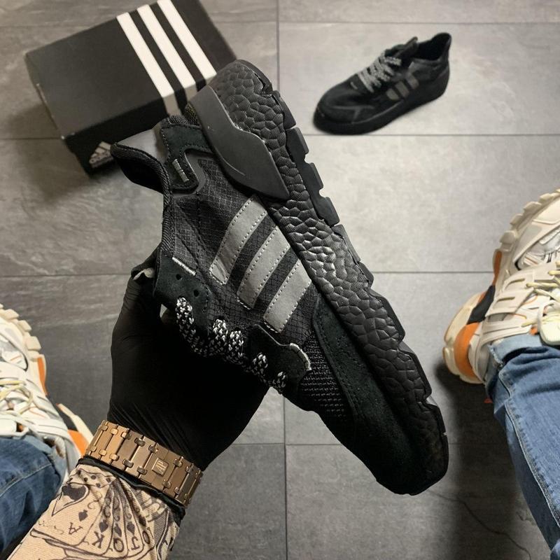 Adidas nite jogger black . - Фото 3