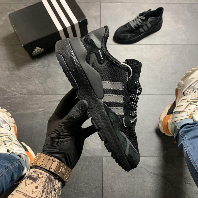 Adidas nite jogger black . - Фото 4