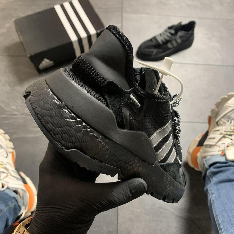 Adidas nite jogger black . - Фото 5