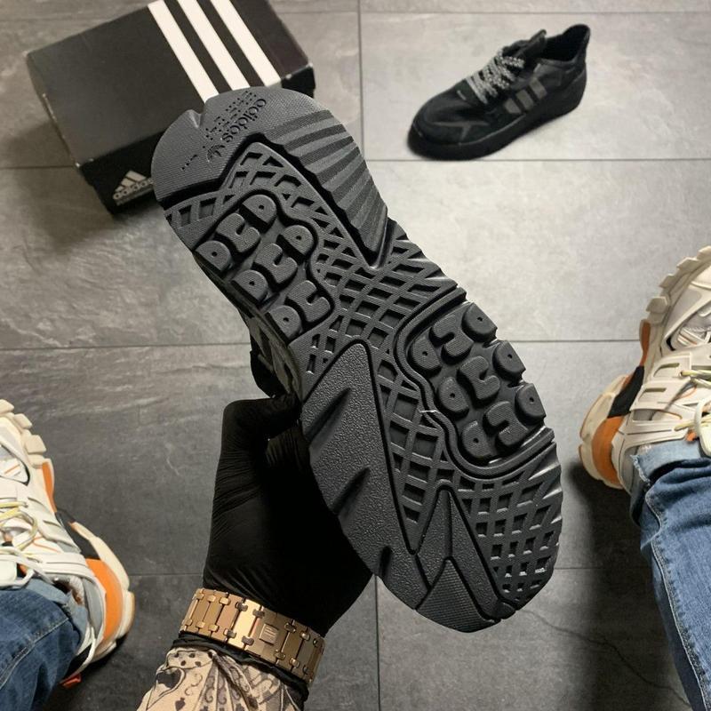 Adidas nite jogger black . - Фото 6