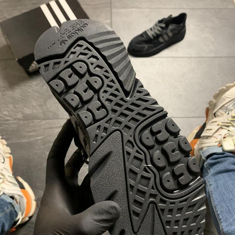 Adidas nite jogger black . - Фото 8