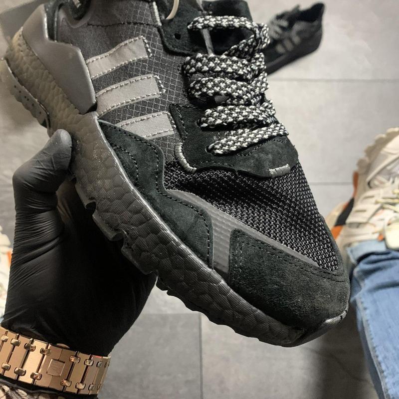 Adidas nite jogger black . - Фото 9