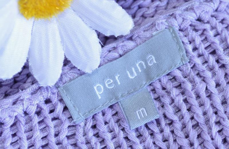 Брендовая теплая кофта на пуговицах per una акрил гонконг цветы - Фото 3